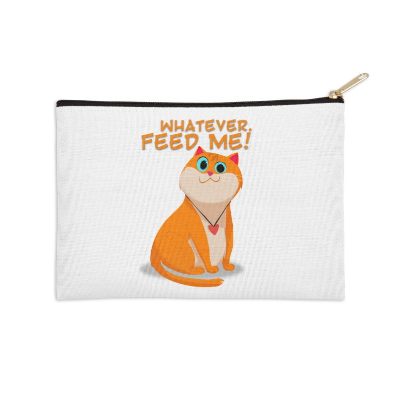 Whatever. Feed Me! Accessories Zip Pouch by Hosico's Artist Shop