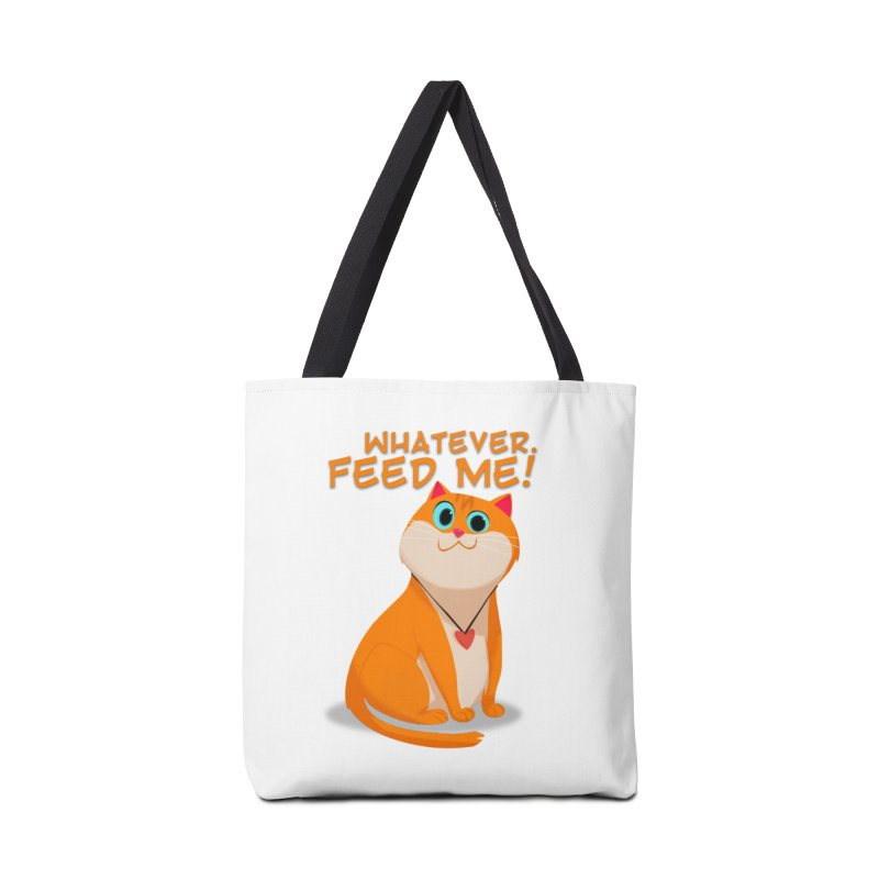 Whatever. Feed Me! Accessories Bag by Hosico's Artist Shop