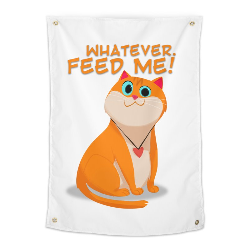 Whatever. Feed Me! Home Tapestry by Hosico's Artist Shop