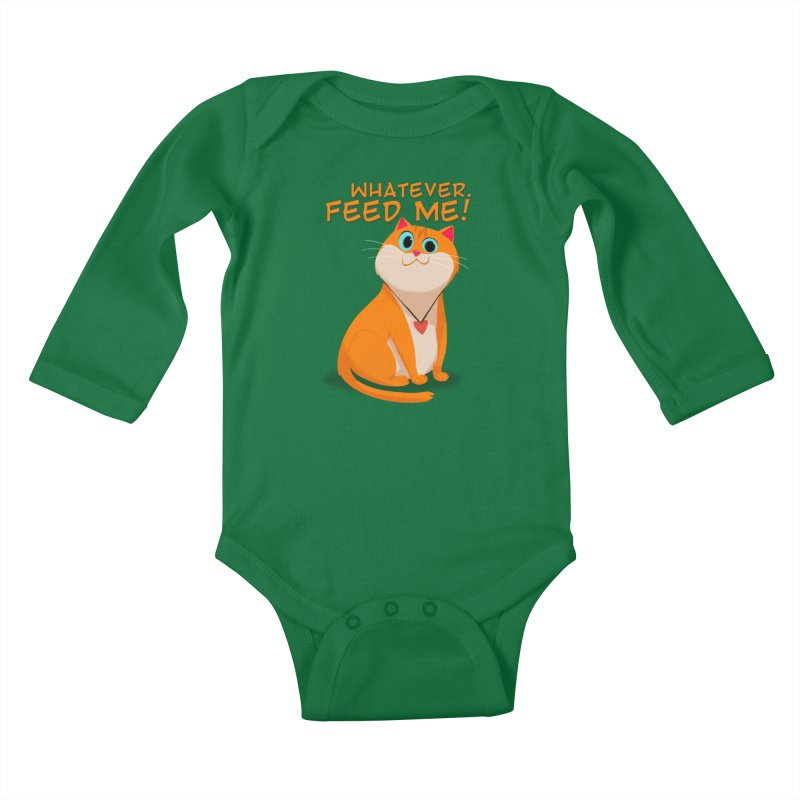 Whatever. Feed Me! Kids Baby Longsleeve Bodysuit by Hosico's Artist Shop