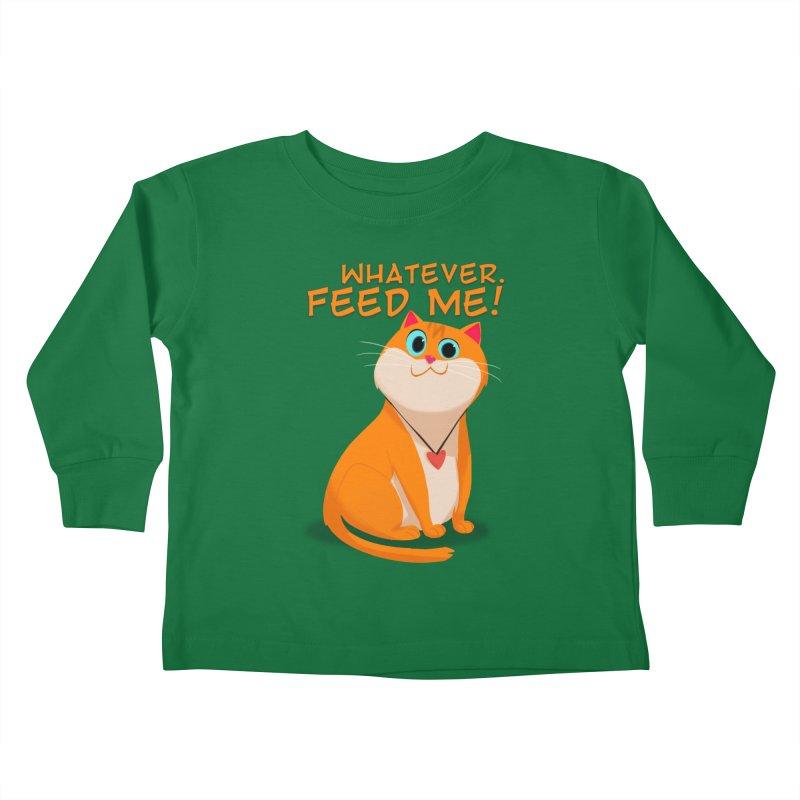 Whatever. Feed Me! Kids Toddler Longsleeve T-Shirt by Hosico's Artist Shop