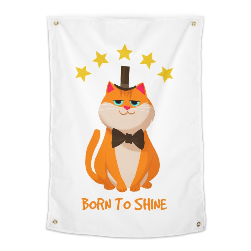 Born To Shine Home Tapestry by Hosico's Artist Shop