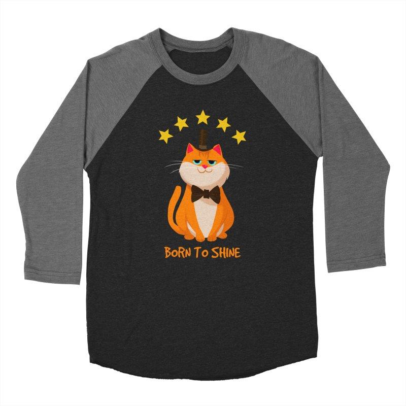 Born To Shine Women's Baseball Triblend T-Shirt by Hosico's Artist Shop