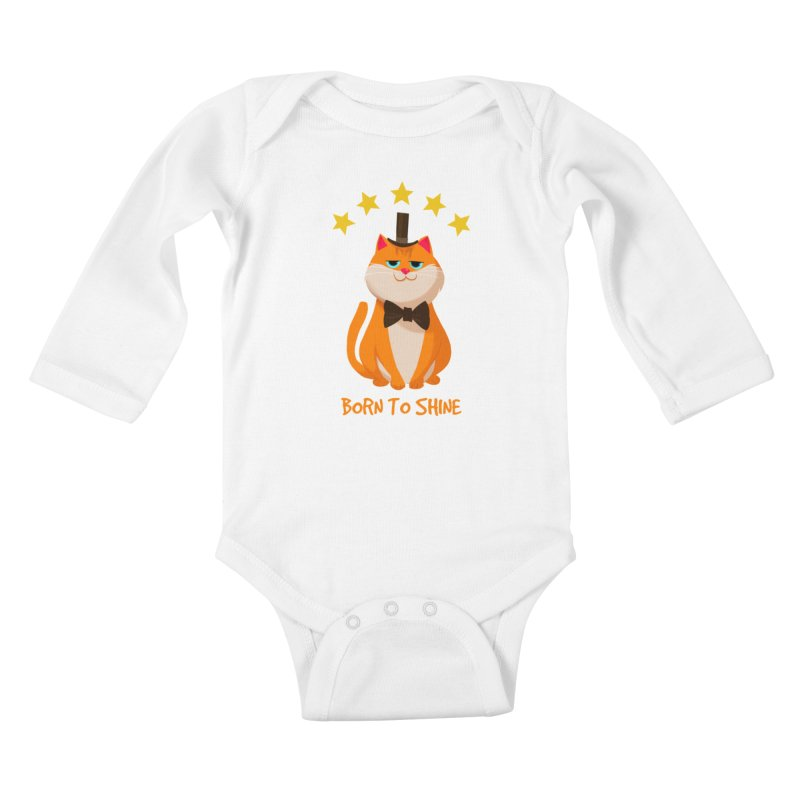 Born To Shine Kids Baby Longsleeve Bodysuit by Hosico's Artist Shop