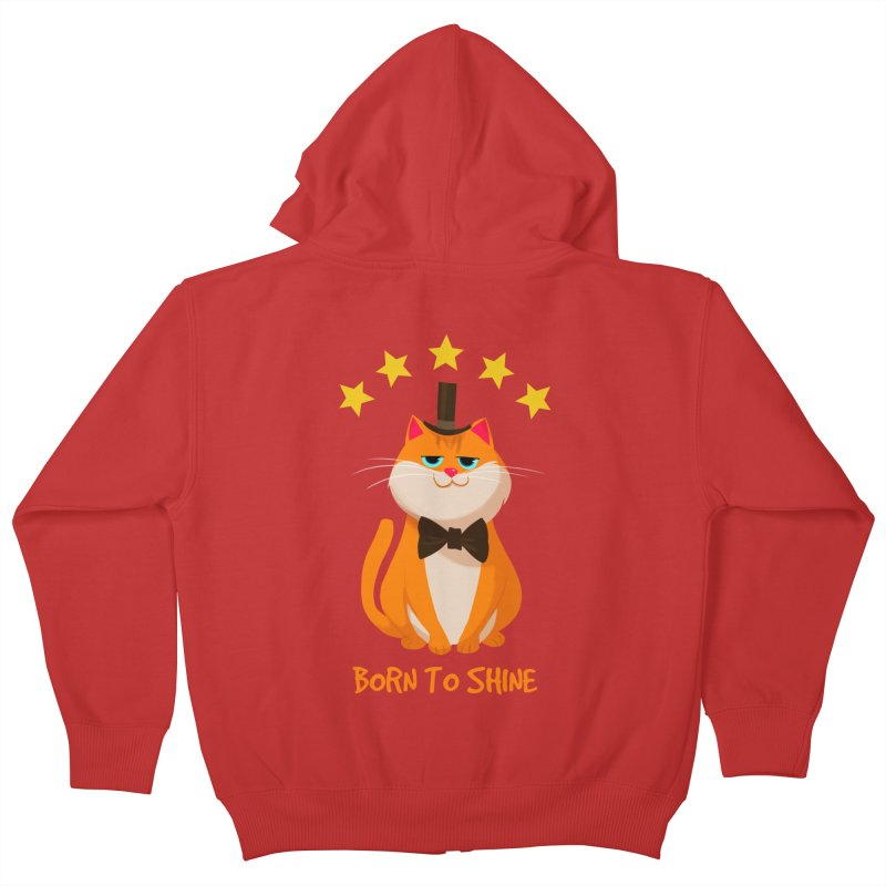 Born To Shine Kids Zip-Up Hoody by Hosico's Artist Shop