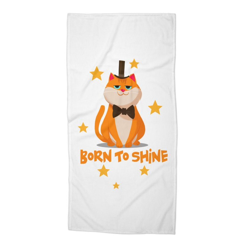 Born To Shine Accessories Beach Towel by Hosico's Artist Shop