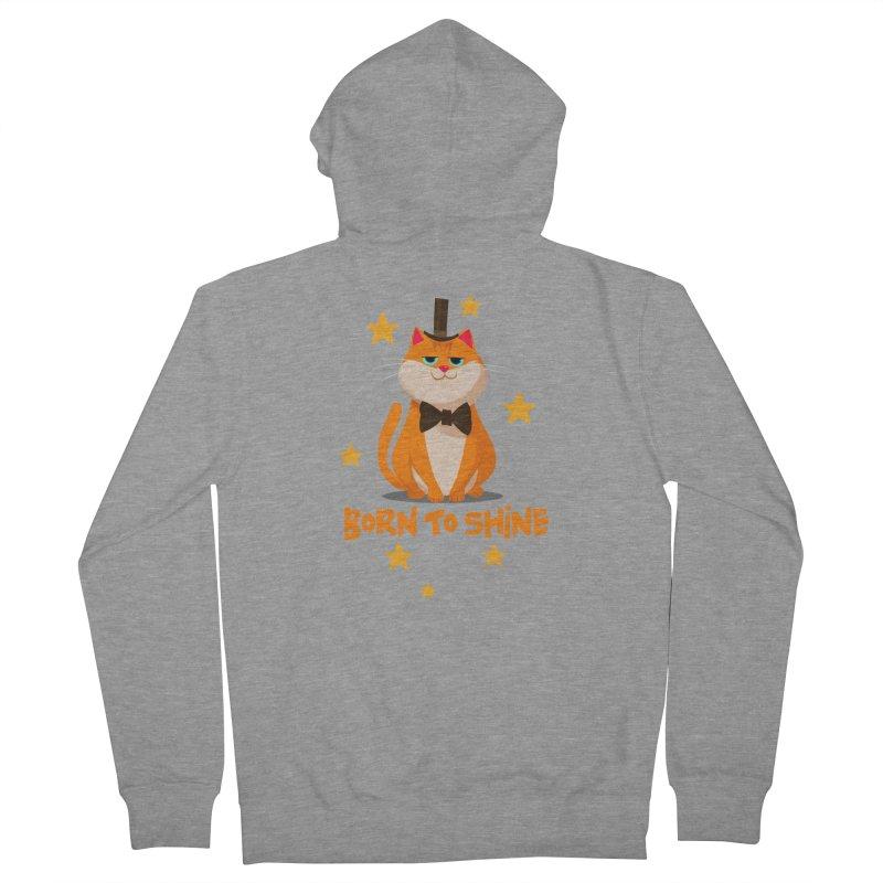 Born To Shine Men's Zip-Up Hoody by Hosico's Artist Shop