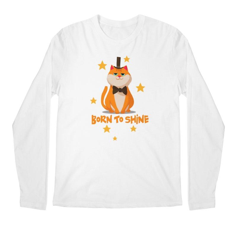 Born To Shine Men's Longsleeve T-Shirt by Hosico's Artist Shop