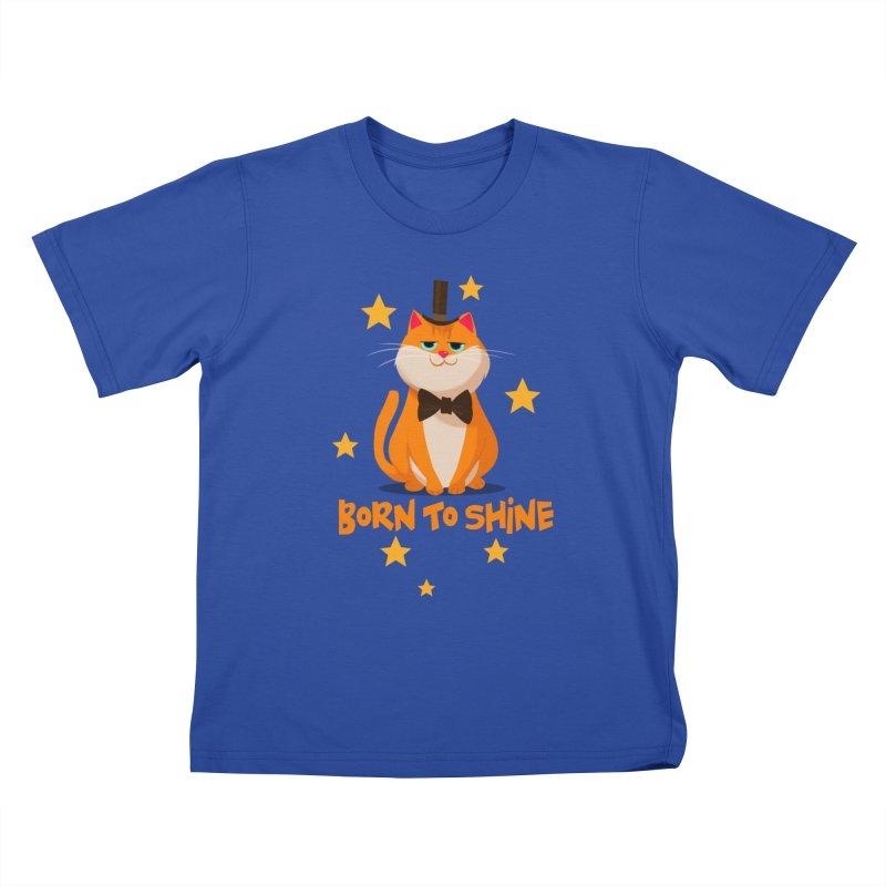 Born To Shine Kids T-shirt by Hosico's Artist Shop