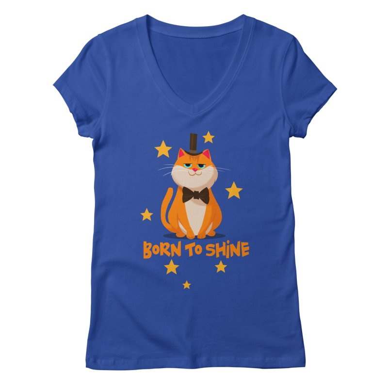 Born To Shine Women's V-Neck by Hosico's Artist Shop