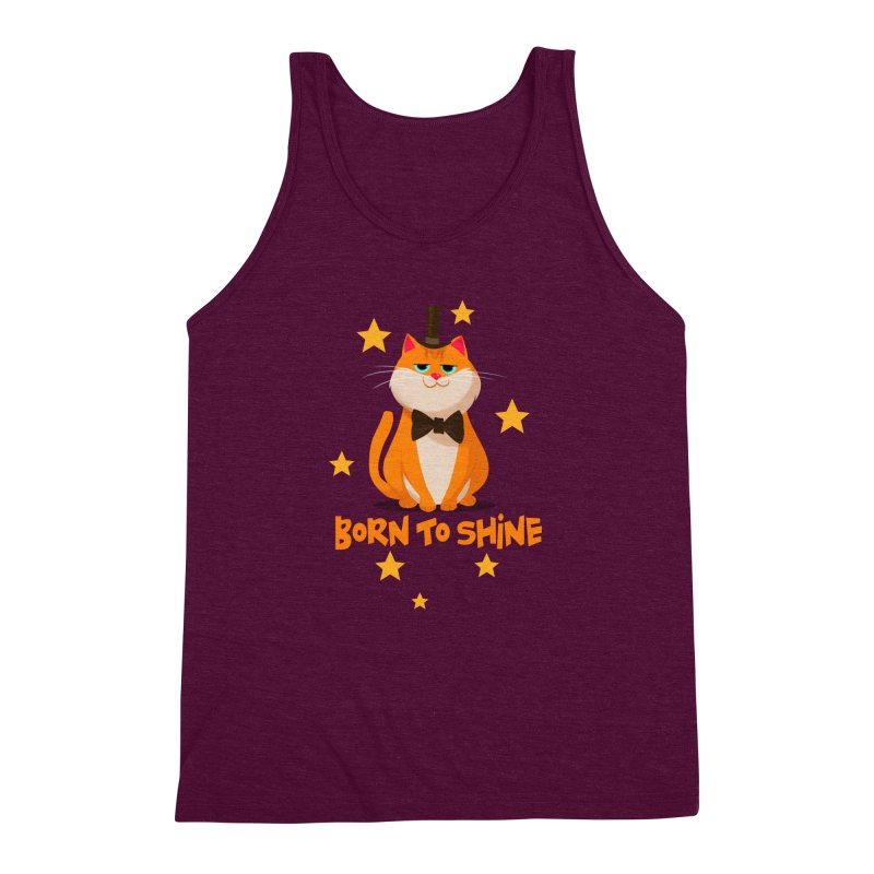 Born To Shine Men's Triblend Tank by Hosico's Artist Shop