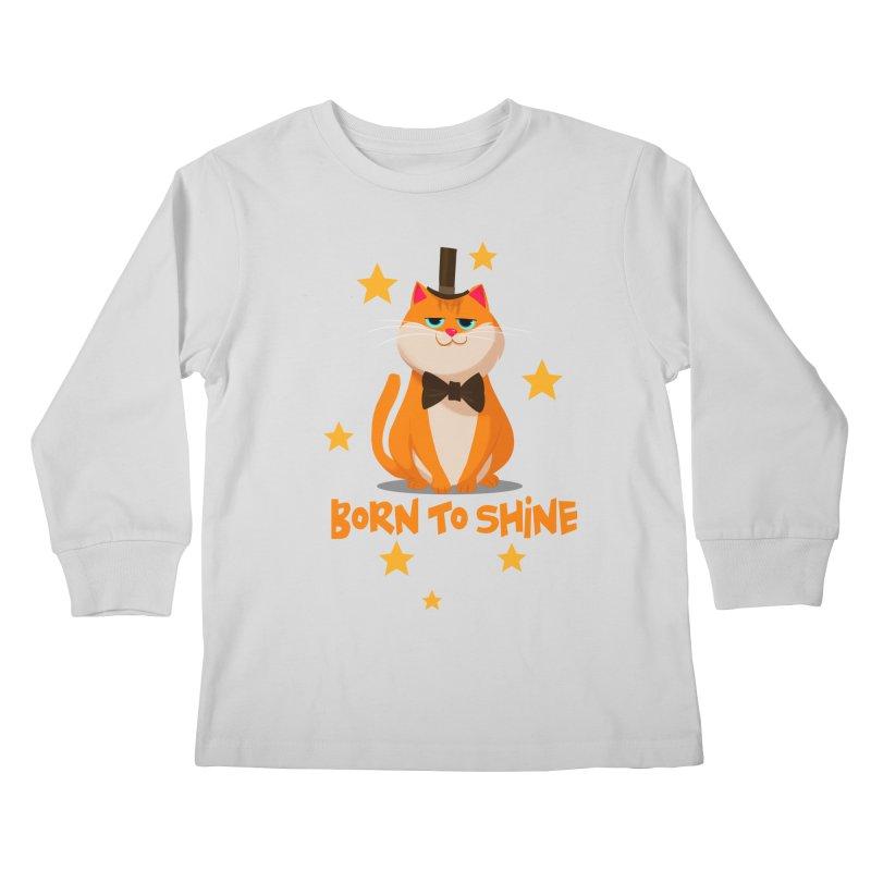 Born To Shine Kids Longsleeve T-Shirt by Hosico's Artist Shop