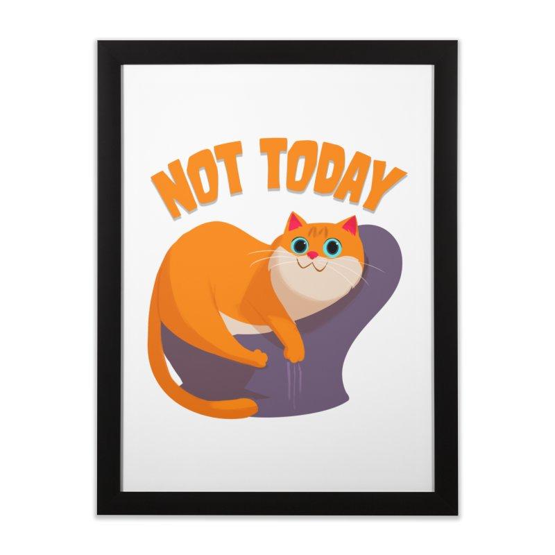 Not Today Home Framed Fine Art Print by Hosico's Artist Shop