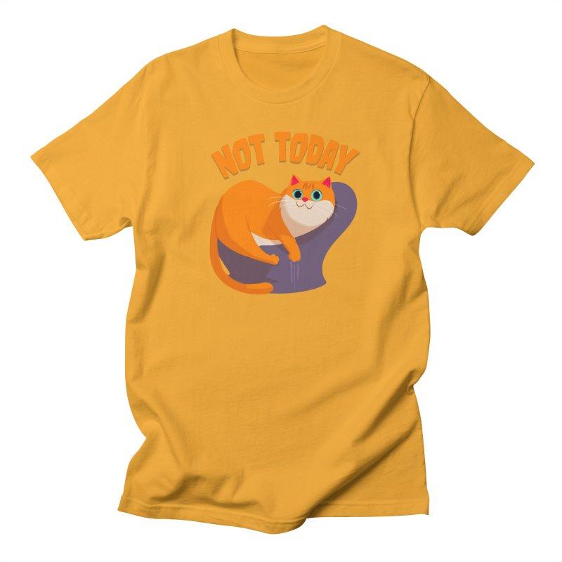 Not Today Men's T-shirt by Hosico's Artist Shop
