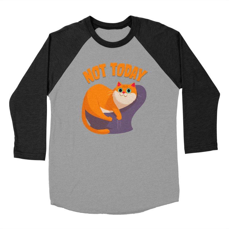 Not Today Men's Baseball Triblend T-Shirt by Hosico's Artist Shop