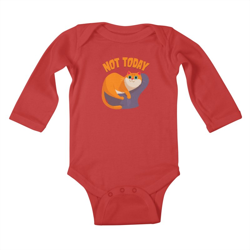 Not Today Kids Baby Longsleeve Bodysuit by Hosico's Artist Shop