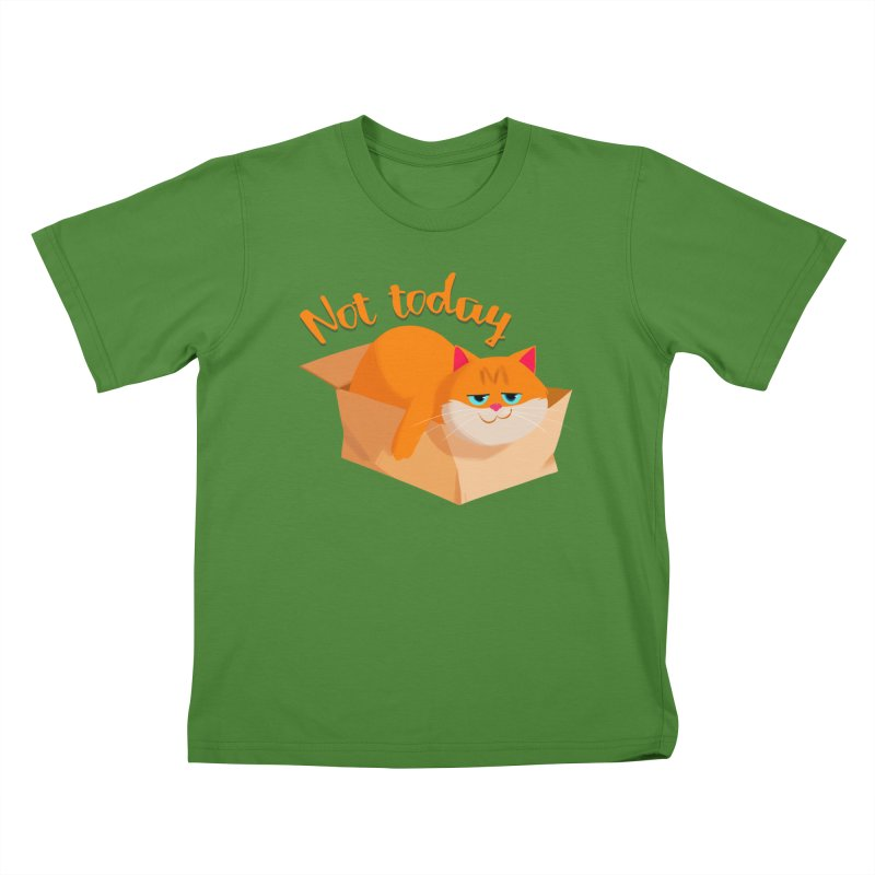 Not Today Kids T-shirt by Hosico's Artist Shop