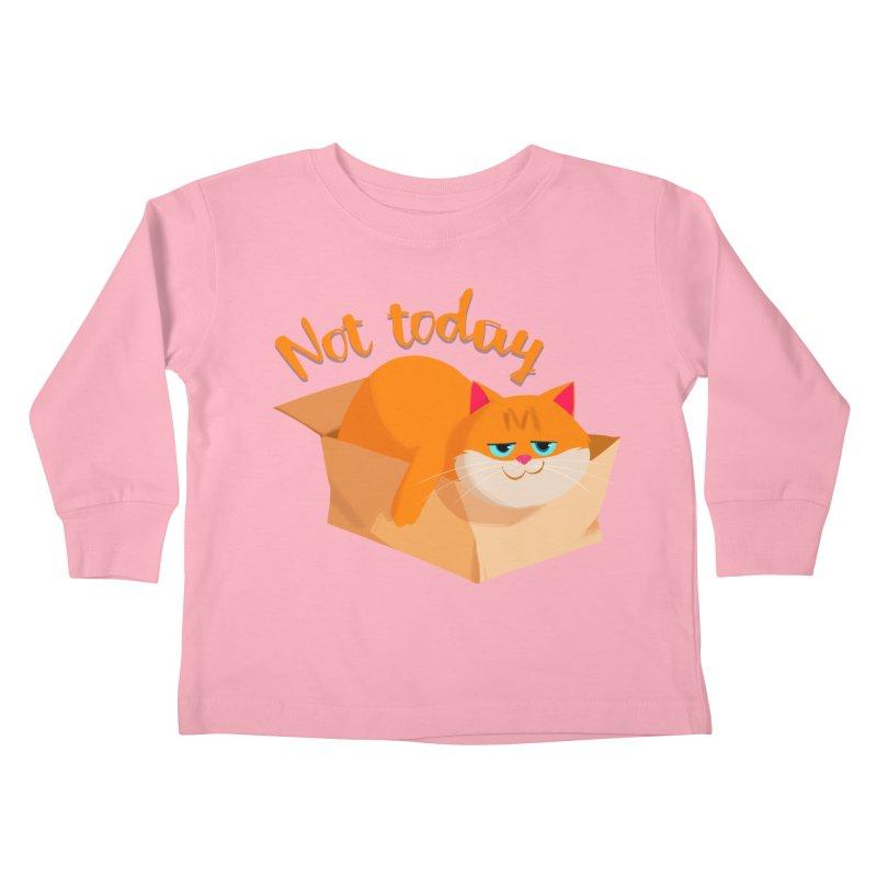 Not Today Kids Toddler Longsleeve T-Shirt by Hosico's Artist Shop