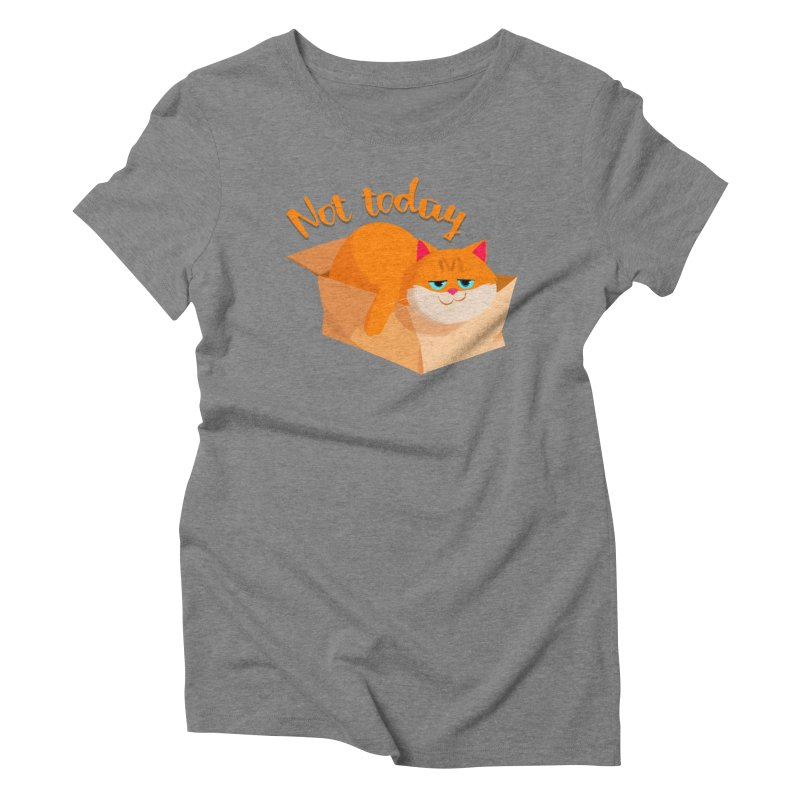 Not Today Women's Triblend T-shirt by Hosico's Artist Shop