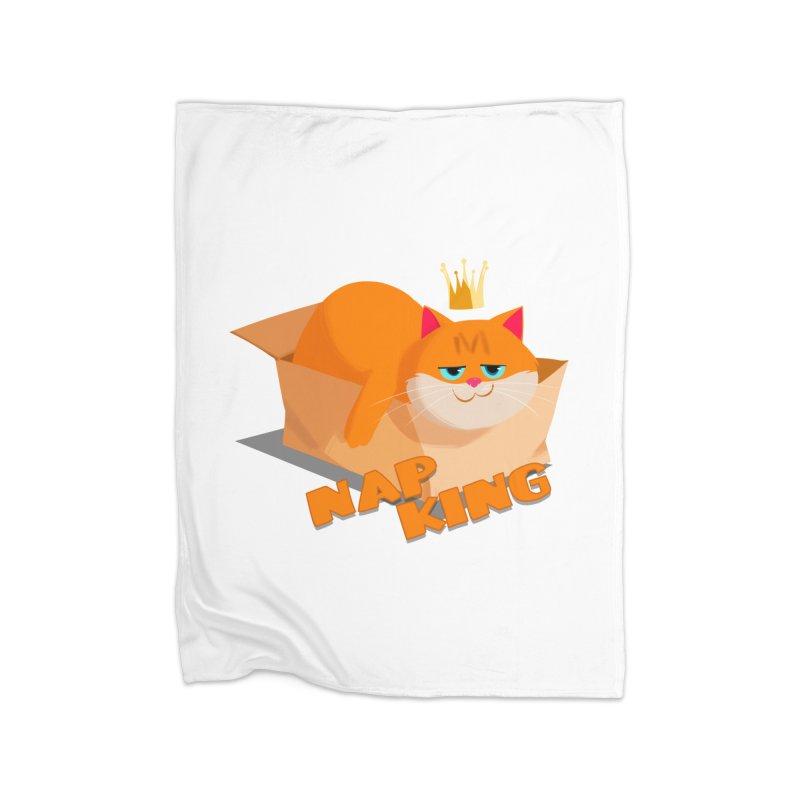 Nap King Home Blanket by Hosico's Artist Shop