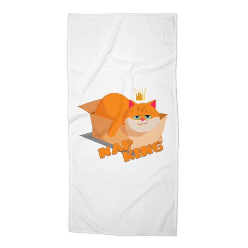 Nap King Accessories Beach Towel by Hosico's Artist Shop