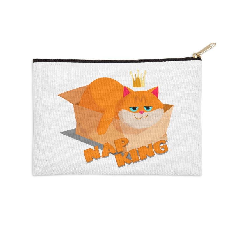 Nap King Accessories Zip Pouch by Hosico's Artist Shop