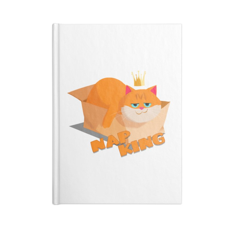 Nap King Accessories Notebook by Hosico's Artist Shop