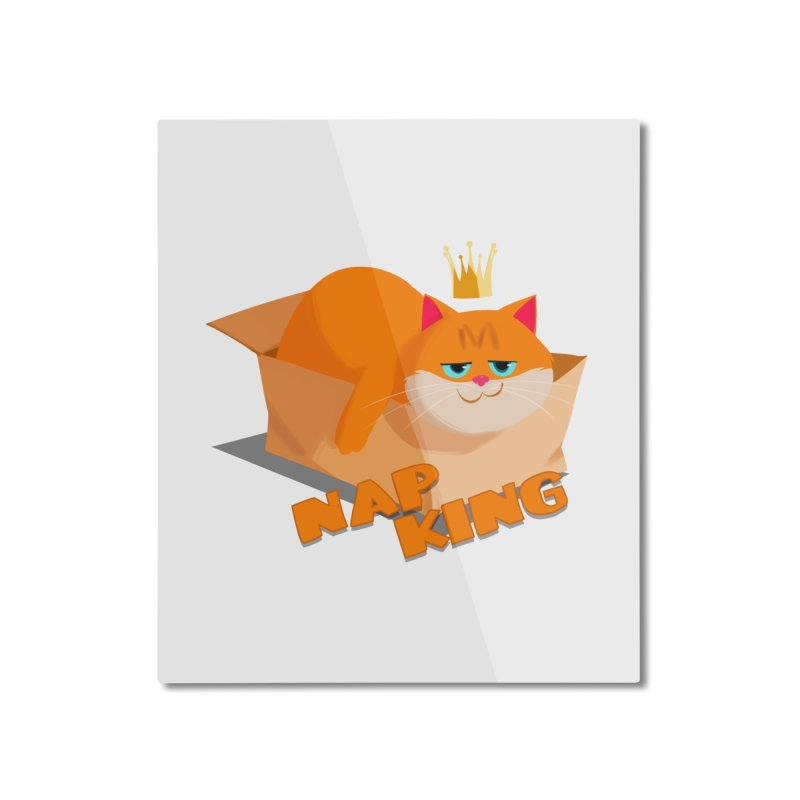 Nap King Home Mounted Aluminum Print by Hosico's Artist Shop