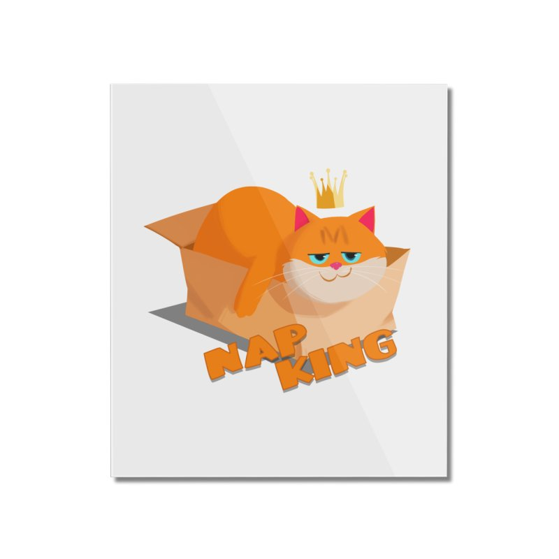 Nap King Home Mounted Acrylic Print by Hosico's Artist Shop