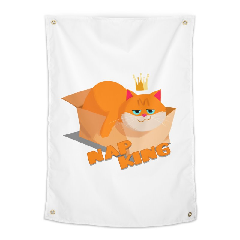Nap King Home Tapestry by Hosico's Artist Shop