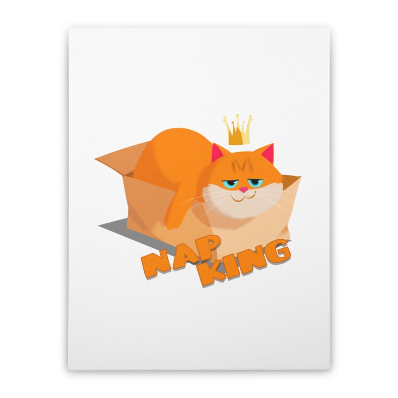 Nap King Home Stretched Canvas by Hosico's Artist Shop