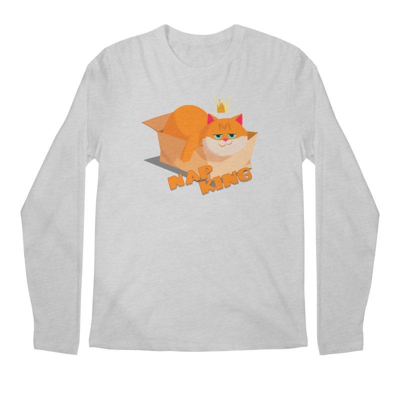 Nap King Men's Longsleeve T-Shirt by Hosico's Artist Shop