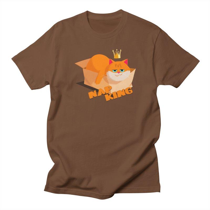 Nap King Men's T-shirt by Hosico's Artist Shop