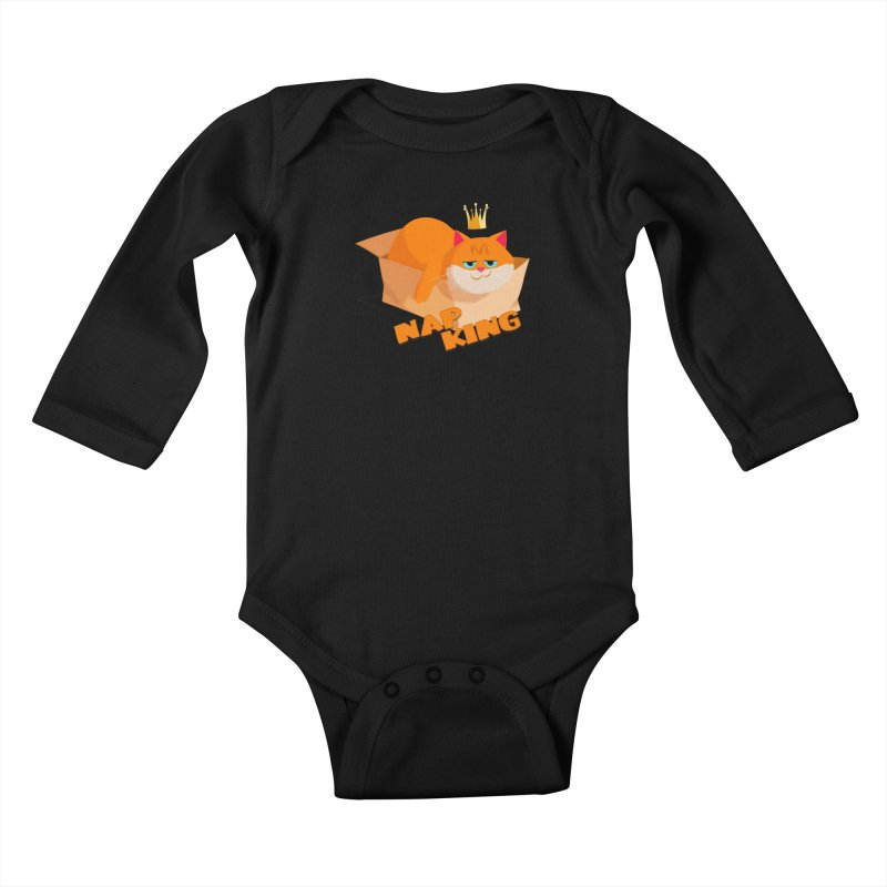 Nap King Kids Baby Longsleeve Bodysuit by Hosico's Artist Shop