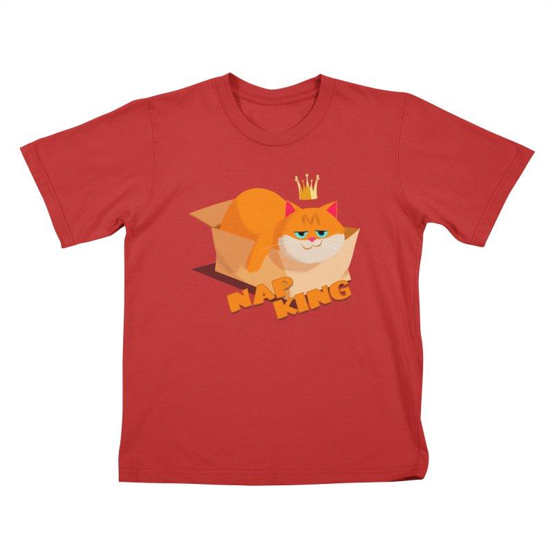 Nap King Kids T-shirt by Hosico's Artist Shop