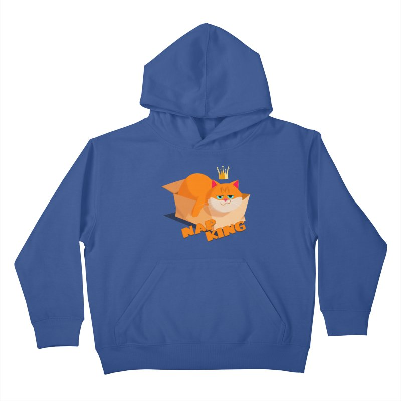Nap King Kids Pullover Hoody by Hosico's Artist Shop