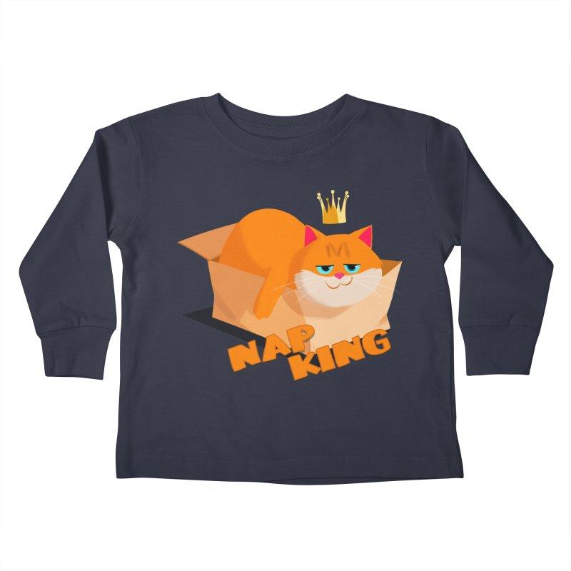 Nap King Kids Toddler Longsleeve T-Shirt by Hosico's Artist Shop