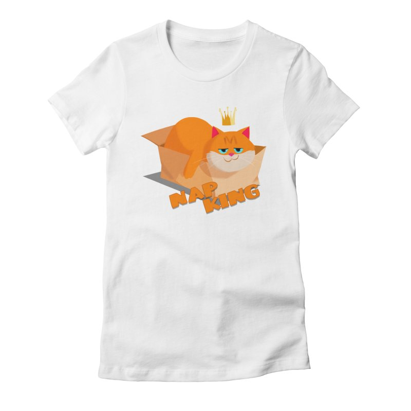 Nap King Women's Fitted T-Shirt by Hosico's Artist Shop