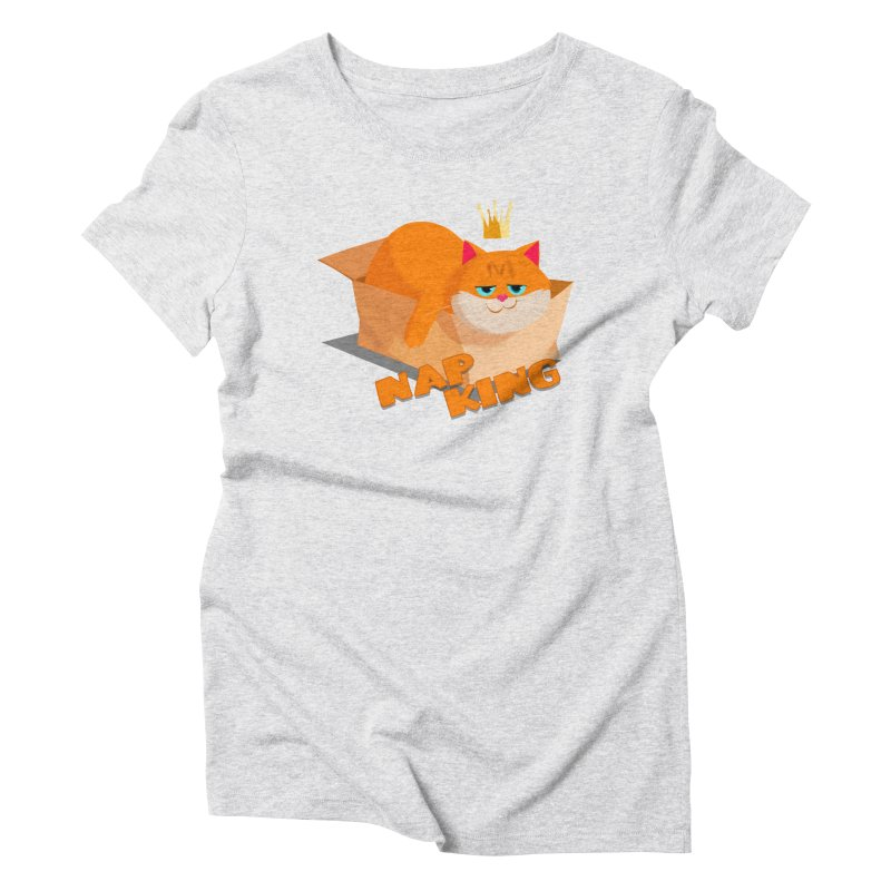 Nap King Women's Triblend T-shirt by Hosico's Artist Shop