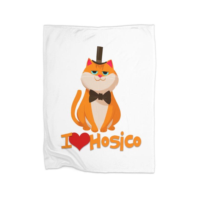 I Love Hosico Home Blanket by Hosico's Artist Shop