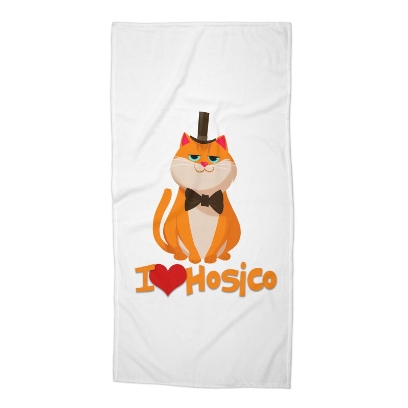 I Love Hosico Accessories Beach Towel by Hosico's Artist Shop