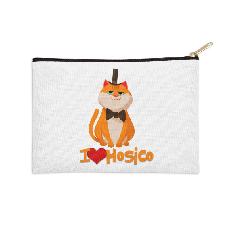 I Love Hosico Accessories Zip Pouch by Hosico's Artist Shop