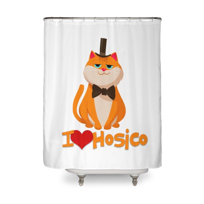 I Love Hosico Home Shower Curtain by Hosico's Artist Shop