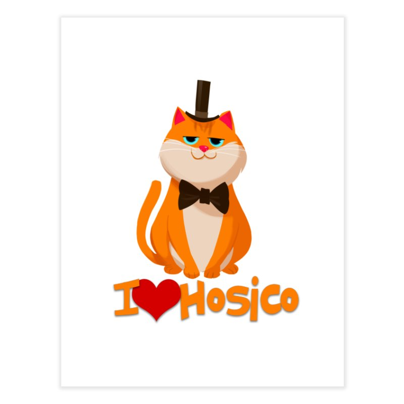 I Love Hosico Home Fine Art Print by Hosico's Artist Shop