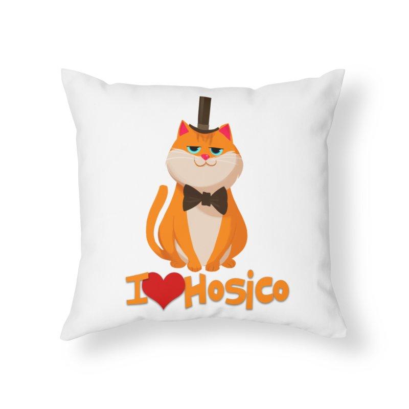 I Love Hosico Home Throw Pillow by Hosico's Artist Shop