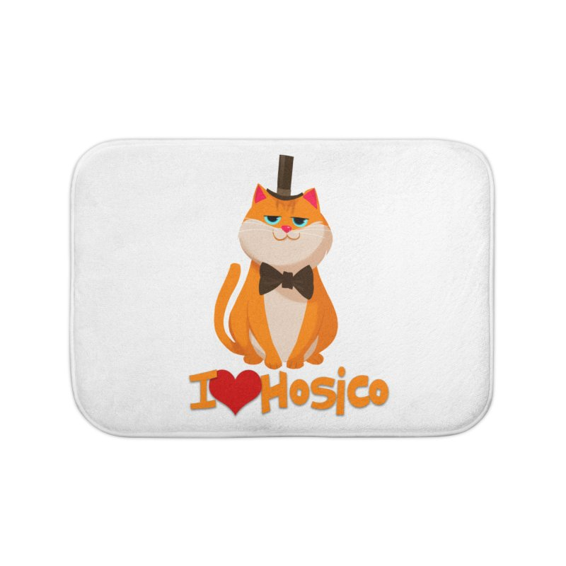 I Love Hosico Home Bath Mat by Hosico's Artist Shop