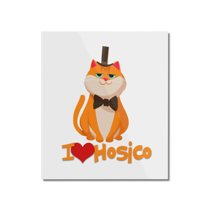 I Love Hosico Home Mounted Acrylic Print by Hosico's Artist Shop