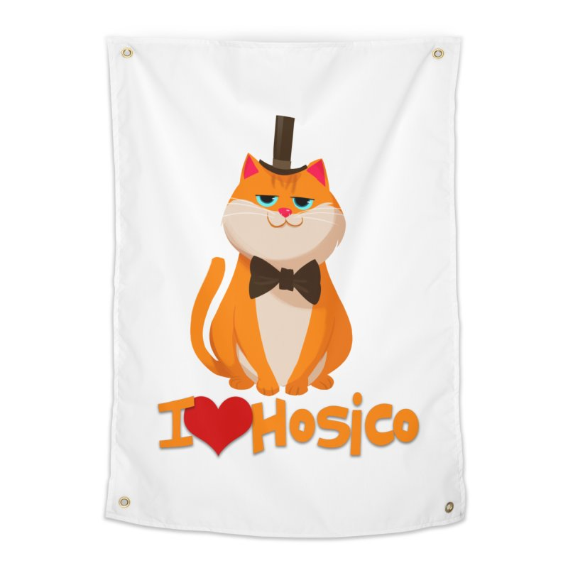 I Love Hosico Home Tapestry by Hosico's Artist Shop