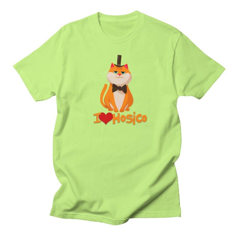 I Love Hosico Men's T-shirt by Hosico's Artist Shop