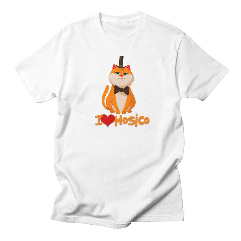 I Love Hosico in Men's T-Shirt White by Hosico's Artist Shop